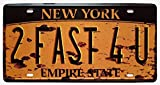 Shinewe Nueva York 2 Fast 4 U Vintage Metal Sign Crafts placa de matrícula accesorios decoración...