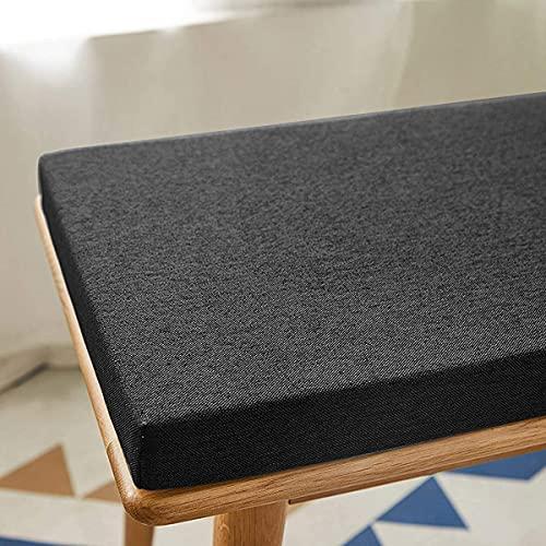 ZZeng RS - Cuscino per panca da interni ed esterni, 100/120 cm, cuscino per panca da giardino, 2 3 posti, 3/5 cm, per sala da pranzo e patio (100 x 30 x 5 cm, colore: nero