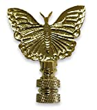 Royal Designs Monarch Butterfly Finial 2.25' Lamp Finial for Lamp Shade, Polished Brass