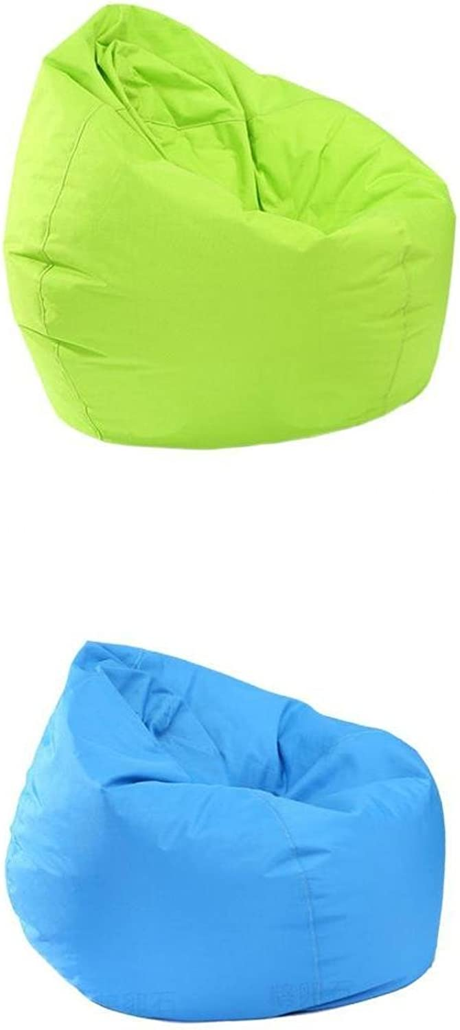 D DOLITY Kids Large Bean Bag Covers without Filling, Waterproof, Sky bluee & Green