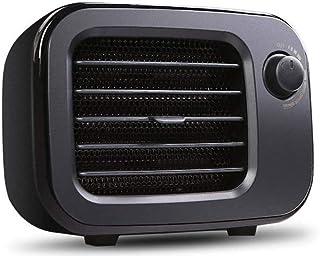 Gaorb Calentador eléctrico, calefactores de Ambiente, Calentador de Mesa PTC Calefacción Mini Home pequeño Calentador de Encargo del Regalo (Color : Elegant Black)
