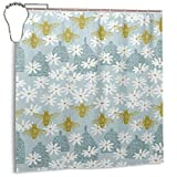 yuiytuo Duschvorhang,Duschvorhänge Honey Bees Shower Curtain with Hooks Shower Curtain for Bathroom Home Decor