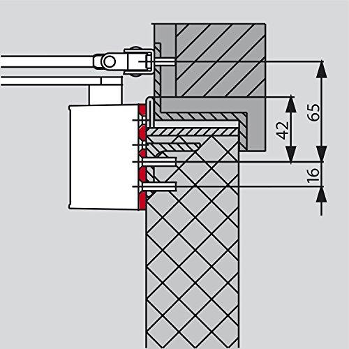 Montageplatte DORMA für TS 72, silber | Zubehör Türschließer dormakaba