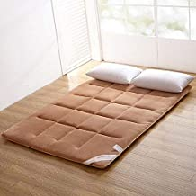 Futon mattressFlannel Japanese Floor Futon Mattress. Sleeping Pad, Tatami Mat, Japanese Bed Roll, Foldable Roll Up Mattres...