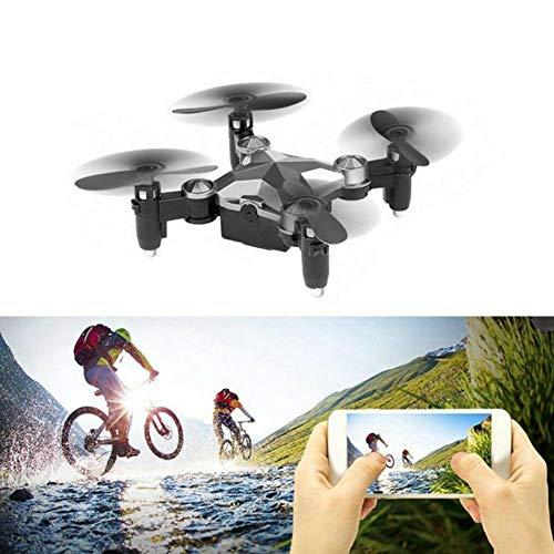 Drone, Cámara Aérea,Drones de fotografía, Cámaras espía, Mini Dron de Equipaje, Mini Quadcopter Plegable WiFi, Cámara Aérea Remota en Tiempo Real, Cámara FPV Y Video en Vivo, Modo Sin Cabeza