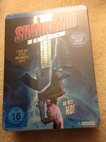 Sharknado The Ultimate Collection : 7 Filme Box incl. 3D Blu-Ray Version Steelbox