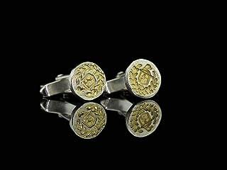 FAMILIENWAPPEN - Manschettenknöpfe aus Silber und Gold (Wird angeferitgt)
