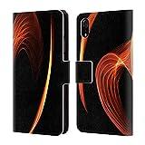 Head Case Designs Oficial Haroulita Corazón de Fuego Caleidoscopio Glitch Carcasa de Cuero Tipo Libro Compatible con Apple iPhone XR