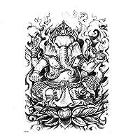 Pikanetガネーシャ一時的なタトゥーステッカー3Dボディーアートフェイクタトゥーtatouage temporaireファム防水一時的なタトゥー