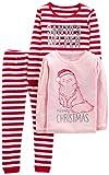 Simple Joys by Carter's - Pijamas enteros - para bebé niña multicolor Red Stripe/Kitty 2T