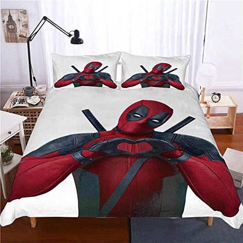 299 Duvet Cover Sets 3D Deadpool Marvel 3 Piece Set Bedding 100% Microfiber For Gifts (1 Duvet Cover + 2 Pillowcases) F-Queen(228cm*228cm)