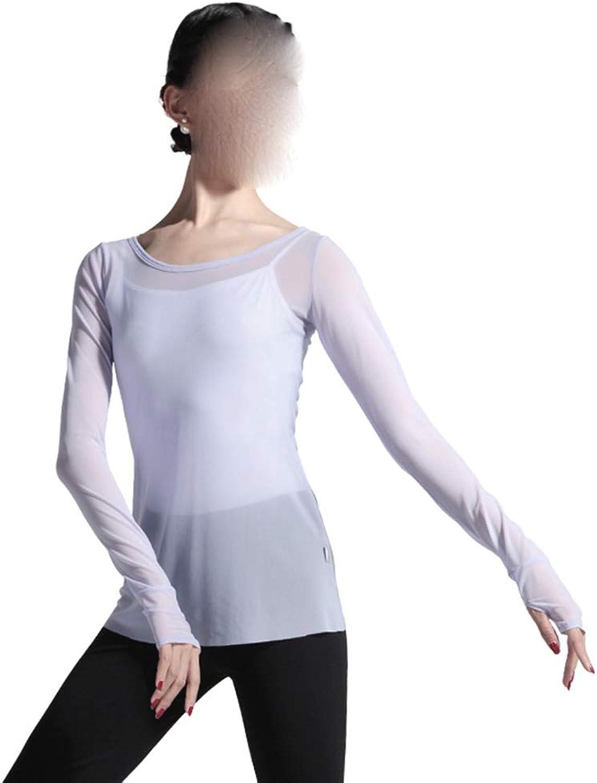 Jian E7 Dance Long Sleeve Long Mesh Gauze Blouse Ballet Exercise Clothes Classical Dance Jacket Costumes Latin Dance Clothes Female Adult