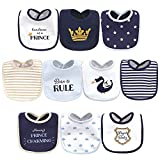 Hudson Baby Unisex Baby Cotton Bibs, HANDSOME AS A PRINCE, One Size