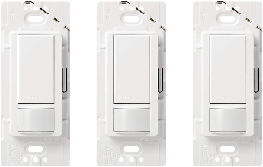 Lutron Maestro Sensor Switch (3 Pack) | No Neutral Required, Single-Pole or Multi-Location | MS-OPS5MH-WH | White