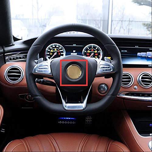 SYSFOUR 52 / 57mm Auto Styling Lenkrad Mitte Stern Emblem ABS Dekoration Logo Aufkleber für Mercedes Benz AMG Apfelbaum GLC GLE CLS, Silber Apfelbaum AM, 52mm flach