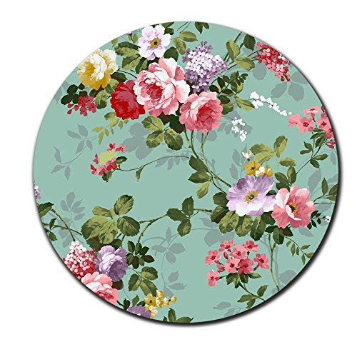 Beautiful Flowers Like Sleeping Princess Round Mouse Pad Show Love to Your True Love Mouse pad