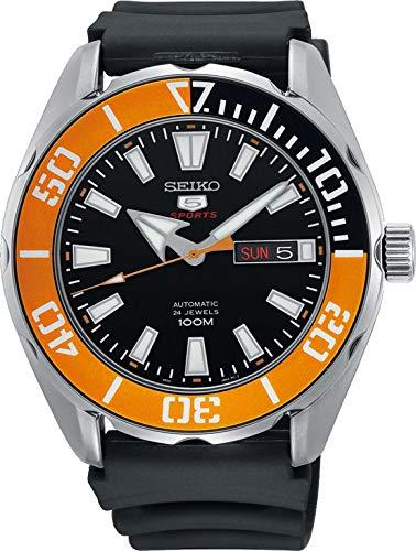 Seiko Herren Analog Automatik Uhr mit Silikon Armband SRPC59K1