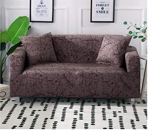 ACVMF Funda de sofá 1 2 3 4 plazas Universal elástico Cuatro Estaciones Cubierta Antideslizante en Tejido elástico Extensible Protector de sofá para Sala de Estar Dormitorio Rojo 2 plazas: 145-185 cm