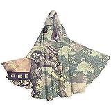 Mitta Yane Hooded Cape Disfraz de Estilo Retro de Longitud Completa con Disfraces de Capa con Capucha de Elefantes