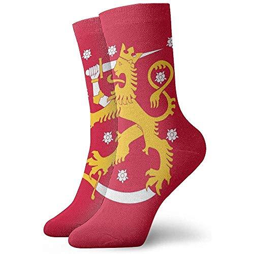 Kevin-Shop Vlag van Finland Enkelsokken Casual Cozy Crew Sokken voor Mannen, Vrouwen, Kinderen