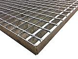 Schweißpressrost Gitterrost SP-Rost Treppe Podest Verzinkt/Breite 120cm Tiefe 100cm / Maschenweite: 34/38 mm/Ideal für den Einsatz im Innen und Außenbereich