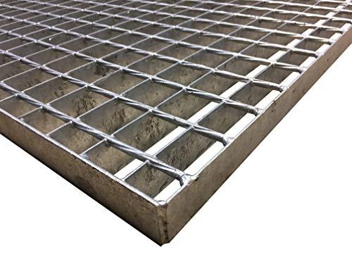 Schweißpressrost Gitterrost SP-Rost Treppe Podest Verzinkt/Breite 100cm Tiefe 100cm / Maschenweite: 34/38 mm/Ideal für den Einsatz im Innen und Außenbereich