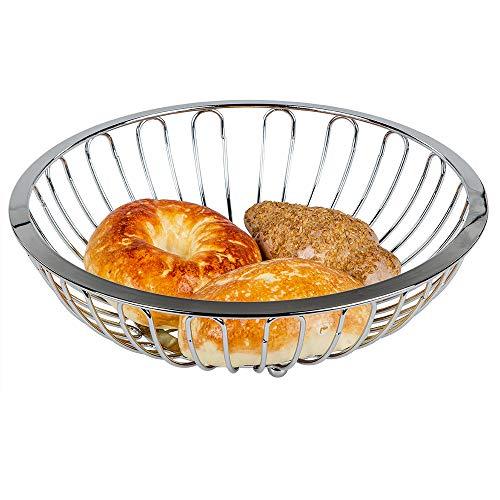 Belle Coque en chrome pour les petits pains, pain ou fruits Corbeille à pain Corbeille à fruits Argent