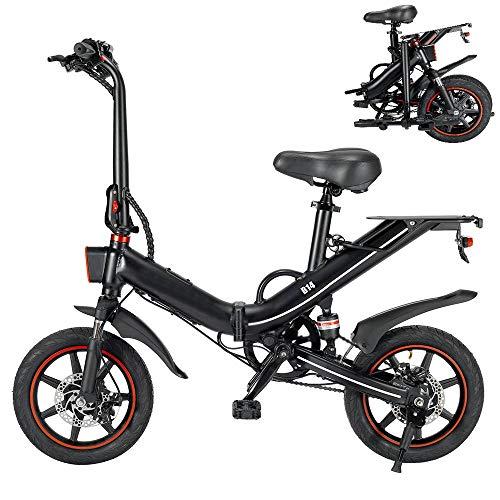 Bicicleta Eléctrica Plegable 14 Pulgadas 400W 25km/h Ciclomotor Bicicletas Bici de Ciudad/Montaña...
