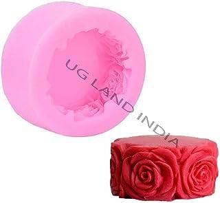 UG LAND INDIA 3D Round Rose Cake Candy Baking Mould Decor DIY Handmade Craft Round Rose Flowers Silicone Soap Mold Multifu...