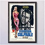 Zplbdw DIE UNheilige Frau Vintage Classic Movie Wand Seide