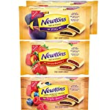 4 - 10 oz packs of soft fruit-filled cookies: 2 Newtons Soft & Chewy Fig Cookies, 1 Newtons Soft & Chewy Strawberry Cookies, and 1 Newtons 100% Whole Grain Wheat Soft & Chewy Triple Berry Cookies. With its distinct square shape and real fruit filling...