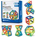 Magnetic Building Blocks Magnetic Tiles Set Toy for 3 4 5 6 7 8 Year Old Boys & Girls - Kids & Toddlers STEM Educational Toy Preschool Creative building Toy Gift for 3-8 Year Old, 36 pcs Set Gift Box