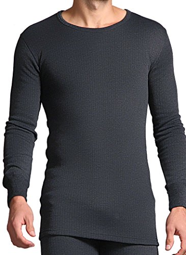 HEAT HOLDERS T-shirt thermique à manches longues pour homme Gris anthracite Taille XL
