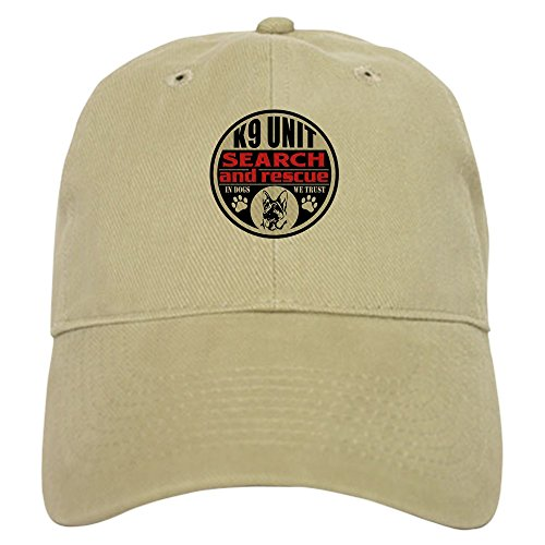 CafePress K9 Unit Search and Rescue Baseball Cap with Adjustable Closure, Unique Printed Baseball Hat Khaki
