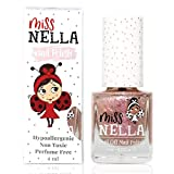 Miss Nella NEW magic collection ABRACADABRA- Special pink sparkle Nail Polish for Kids, with Peel-off, Water Based & Odour Free Formula