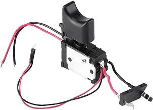 12V Interruptor de Gatillo Interruptor de Taladro Eléctrico Inalámbrico Control de Velocidad Interruptor con Reverso para Batería de Litio con Luz Pequeña