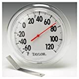 Taylor 5630 6 in Round Dial Indoor / Outdoor Thermometer w/ Mounting Bracket