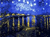 OIKJOKG Pintar por Numeros Adultos, DIY Pintura Al Óleo con Pinceles y Pinturas Decoraciones para El Hogar 40 X 50 Cm,Cielo Azul De Ensueño, Mar