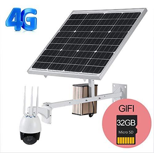 TKFY Cámaras de vigilancia IP solares Monitor al Aire libre-4G...