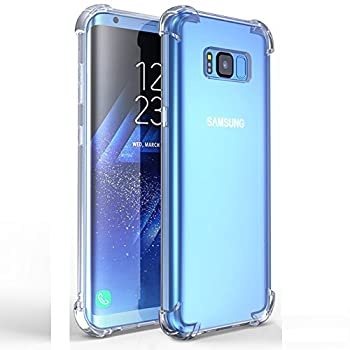 Samsung S8 Case Clear TIYA Galaxy G9500 Transparent Cover Phone Four Corners Thickened Explosion Protection Protective TPU Ultra Soft Gel Rugged Minimalist Scratch Proof