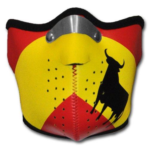 WINDMASK Neopren Biker Motorrad Maske Sturmmaske Skimaske - Spanien, Größe:L - Large