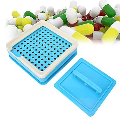 Redxiao Capsule Filler Board, 100 Holes Capsule Filler Manual DIY Capsule Powder Pressing Filling Machine Board Tool Vitamins Powder Capsules Filling Tool