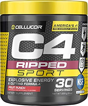 2-Pack C4 Fruit Punch 30 Servings Ripped Sport Pre Workout Powder