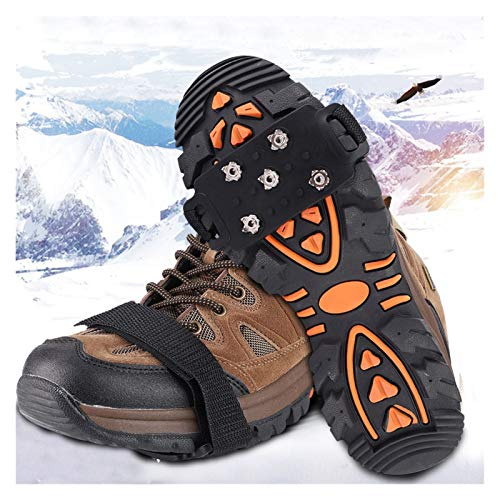 MAIOPA Robusto 1 par 5-Stud Snow Hielo Garra de Hielo Escalada Anti Deslizamiento Picaciones Agarras Crampon Class Shoes Cubierta para Mujeres Botas de Hombre Botas Tamaño 35-43 Ayudante útil