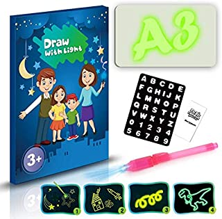 ODIN-Drawing Toys - A3 A4 A5 LED Luminous Drawing Board Graffiti Doodle Drawing Tablet Magic Draw With Light-Fun Fluoresce...