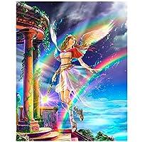 フルドリルダイヤモンドジェムアートビーズ絵画-5D DIYダイヤモンド絵画「美しい天使」3D刺繡クロスステッチモザイク装飾ギフト-40x50cmフルドリル