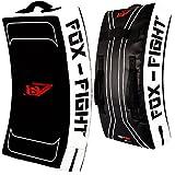 FOX-FIGHT B7 Kick - Escudo de golpeo curvado profesional de alta calidad para entrenamiento de boxeo, muay thai, kickboxing, lucha, artes marciales, BJJ