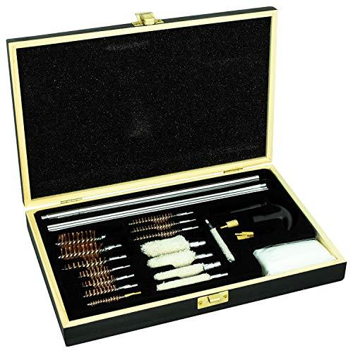 Nitehawk - Kit de Nettoyage d'arme de adapté pour Les carabines/fusils/Pistolets ou Autre - brosses à Fils en Laiton/lingettes en Coton - tiges/Chiffons Jag - 23 pièces