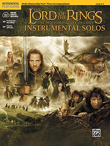 The Lord of the Rings Instrumental Solos for Strings: Violin (with Piano Acc.), Book & Online Audio/Software (Pop Instrumental Solo Series)