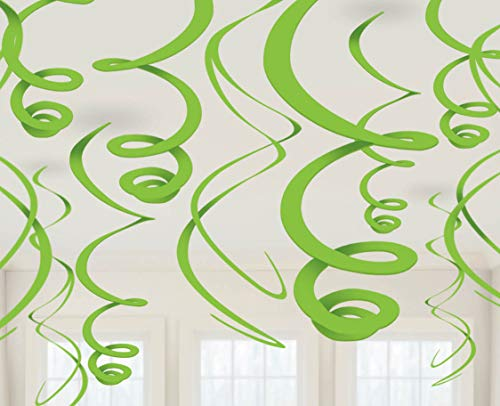 amscan 67055–53–55 55 cm Vert Kiwi en Plastique Décorations Tourbillons